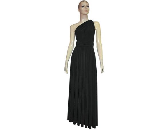 Multi Way Dress Bridesmaid Dress Plus Size Dress Convertible Dress Infinity  Dress Maternity Formal Gown Black Prom Dress Evening Gown XXS-5X