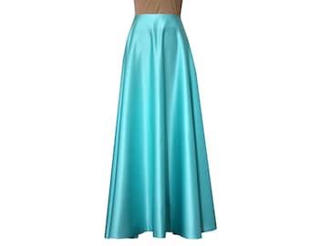 Bridesmaids skirt Tiffany formal skirt Long prom skirt Duchess floor length skirt XS S M L XL