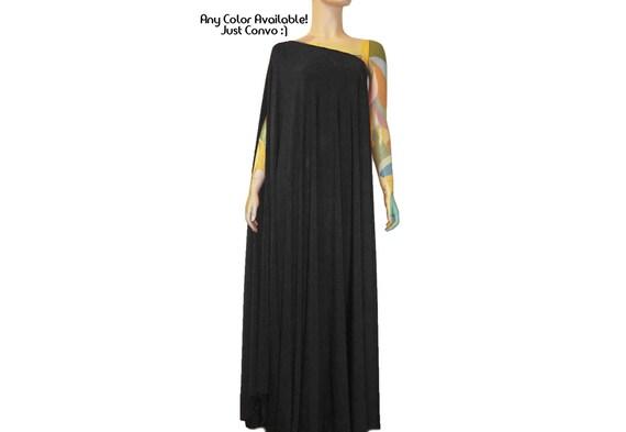 Formal Maternity Dress Black Evening Gown One Shoulder Formal Etsy