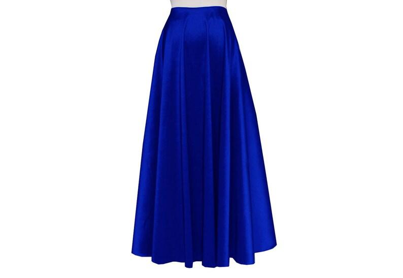 221b759e7140a Taffeta Skirt Plus Size Skirt Bridesmaid Royal Blue Skirt