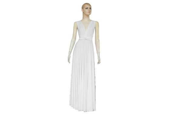 Long wedding dress Infinity white dress Wrap bridal gown Bridesmaid goddess  dress Plus size prom outfit XXS XS S M L XL 2XL 3XL 4XL 5XL