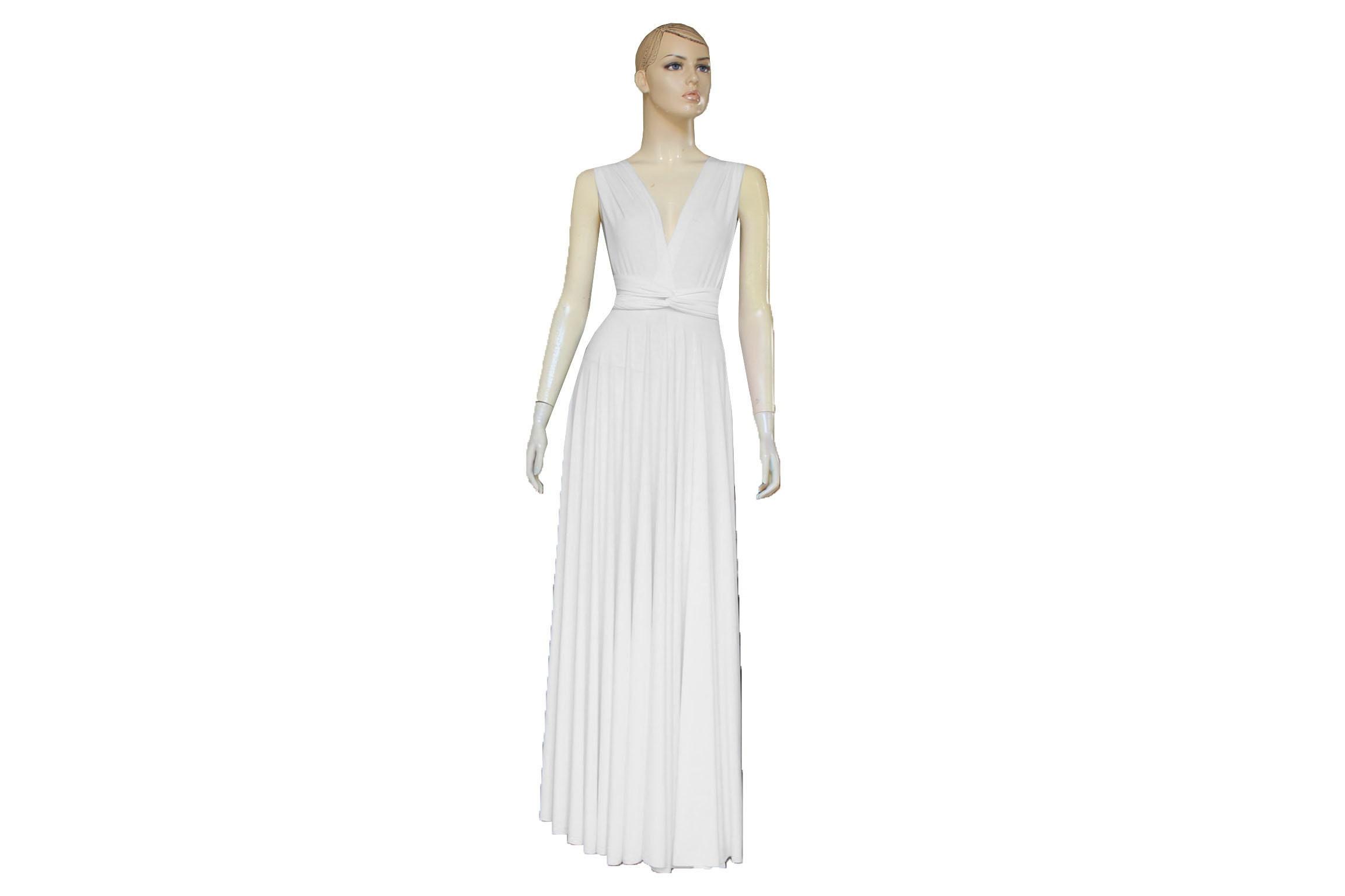Cabrio Brautkleid Infinity weißes Kleid Wrap Brautkleid