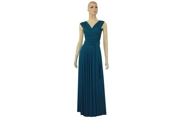 Teal Bridesmaids Dress Infinity Dress Multi Way Dress Plus Size Prom Dress  Formal Maternity Gown XXS XS S M L XL 1XL 2XL 3XL 4XL 5XL