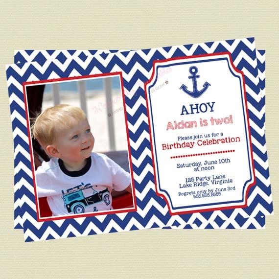 Nautical Birthday Invitations Boy Invites