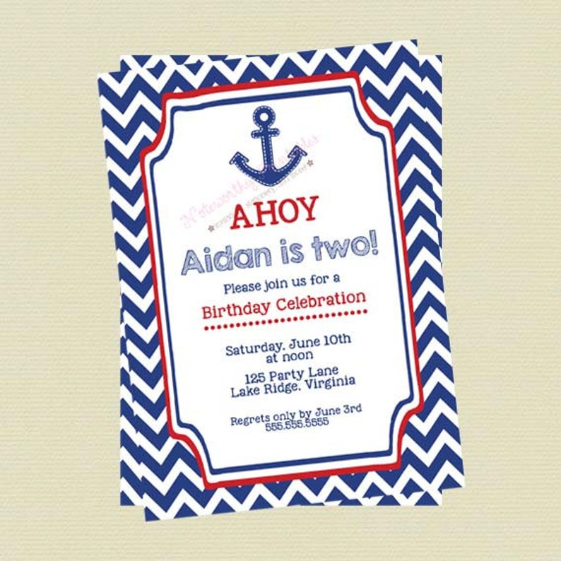 Nautical Birthday Invitations Boy Invites