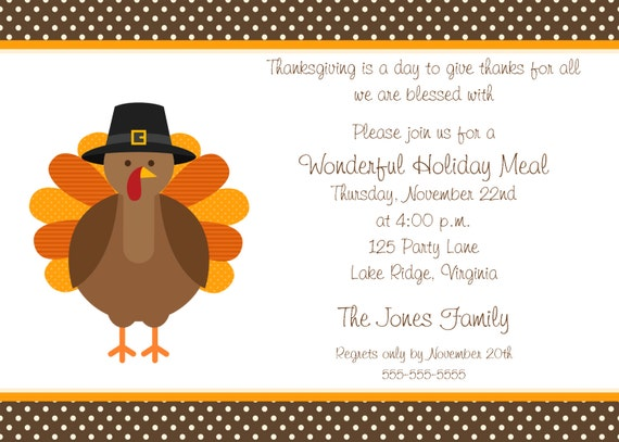 thanksgiving dinner party invitations holiday presents