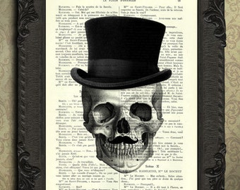 skull with moustache and hat print, moustache print, skull mustache print
