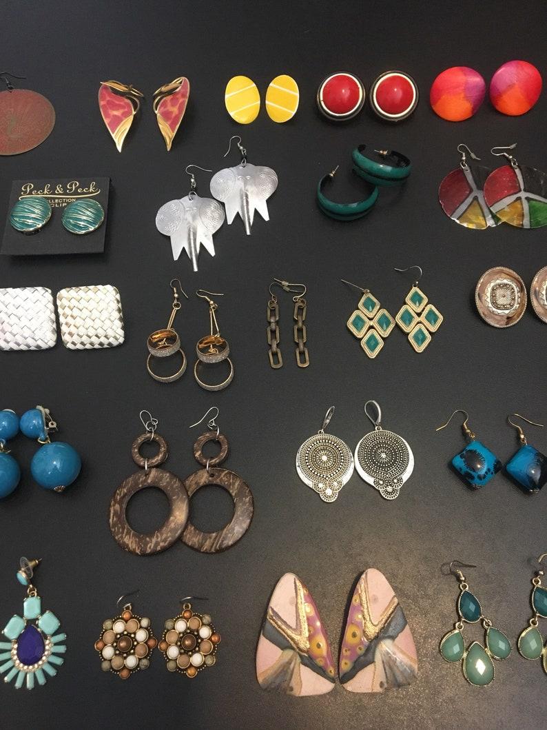 32 Pairs Total 4.28.1 Vntage Earrings LOT Huge Variety