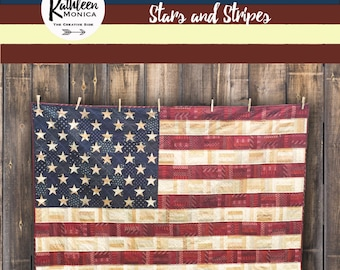 Stars and Stripes - Foundation Piecing Quilt Pattern