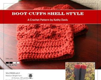 Crochet Pattern-Boot Cuff- Shell Style