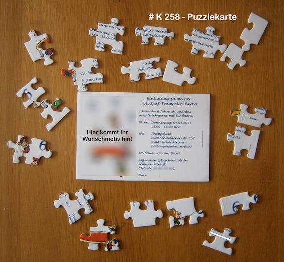 Puzzle Einladung Geburtstag Incl. Textdruck Box | Etsy