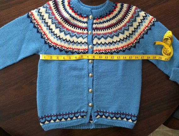 Fair Isle Womens Cardigan