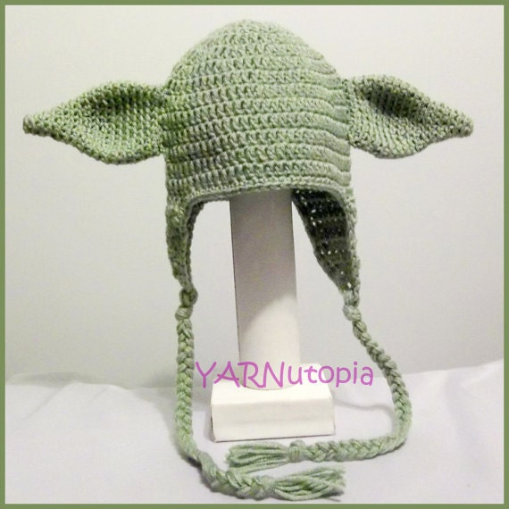 DIGITAL DOWNLOAD: Crochet PATTERN for Yoda Earflap Hat Size | Etsy