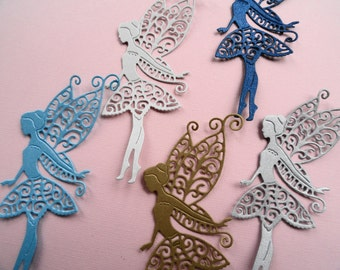 Tattered Lace Fairy Shimmer Die Cuts Set of 8