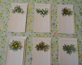 Door Die cuts and Flower Swags Set of 5
