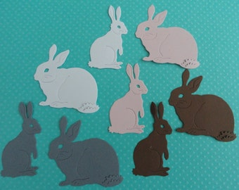 Easter Bunny Die Cuts Set of 12