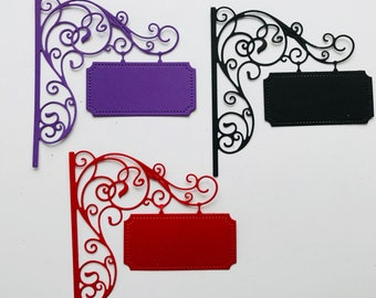 Ornate Sign Cardstock Die Cuts