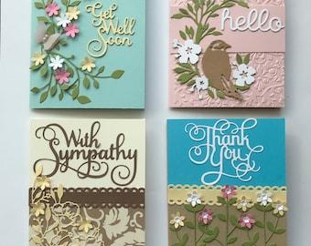Card Kit  Set of 4 DIY Occasion Cards