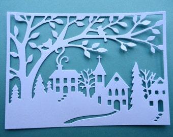 Winter Wonderland Scene Die Cuts