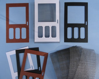 Screen Door Die cuts Set of 6