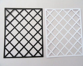 Lattice Frames set of 6 Cardstock Die Cuts
