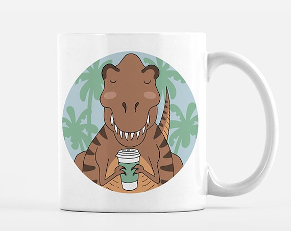 T-Rex Mug Dinosaur Coffee Mug Cup Fun Funny Cute T-Rex Gift for Men for Her for Women for Him for Best Friend Unique Coffee Gift Idea