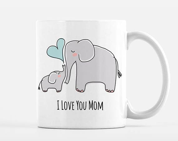 Mom Mothers Day Gift for Mom from Son Mom and Baby Elephant Mug New Mom Gift for Mom Mug Grandma Mug New Grandma Gift Mom Coffee Mug