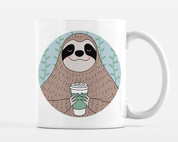 Sloth Mug Animal Coffee Mug Sloth Cup Fun Funny Cute Sloth Gift for Her for Men for Women for Him for Best Friend Unique Coffee Gift Idea