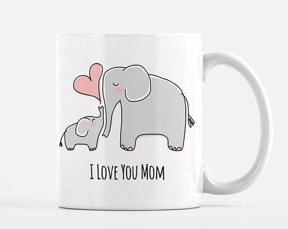 Mom Mothers Day Gift for Mom from Daughter Mom and Baby Elephant Mug New Mom Gift for Mom Mug Grandma Mug Grandma Gift Mom Coffee Mug