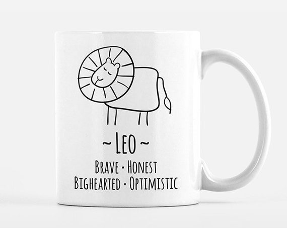 Leo Mug Leo Gift for Him Leo Zodiac Gift for Her Zodiac Mug Zodiac Sign Gift Horoscope Gift Astrology Gift Leo Coffee Mug