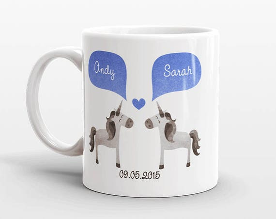 UNICORN Couple Mug Personalized Wedding Gift for Couple Engagement Gift Ideas Anniversary Gift for Her Him Women Men Wife Husband Coffee Mug