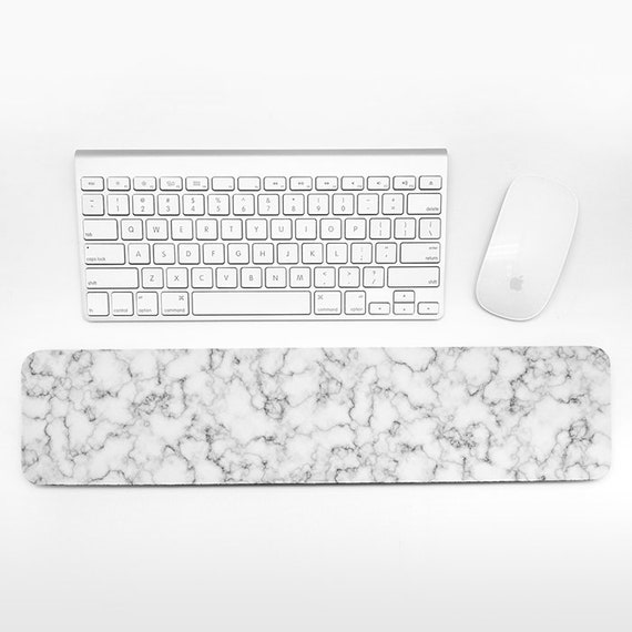Marble Keyboard Wrist Pad Rest Black and White Wrist Keyboard Rest Marble Wrist Rest for Keyboard Pad Modern Desk Office Decor for Men Women