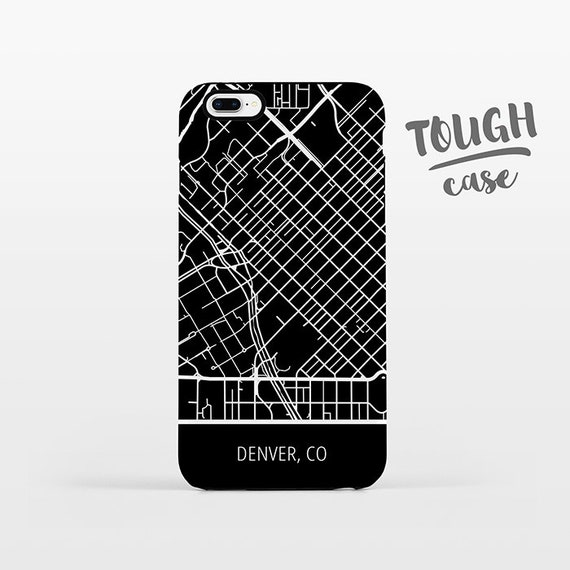 Denver City CO Colorado Map iPhone Case iPhone X iPhone 8 Plus iPhone 7 Plus iPhone 6 Plus iPhone 6s Plus iPhone SE 5 5s 5c 4 4s TOUGH