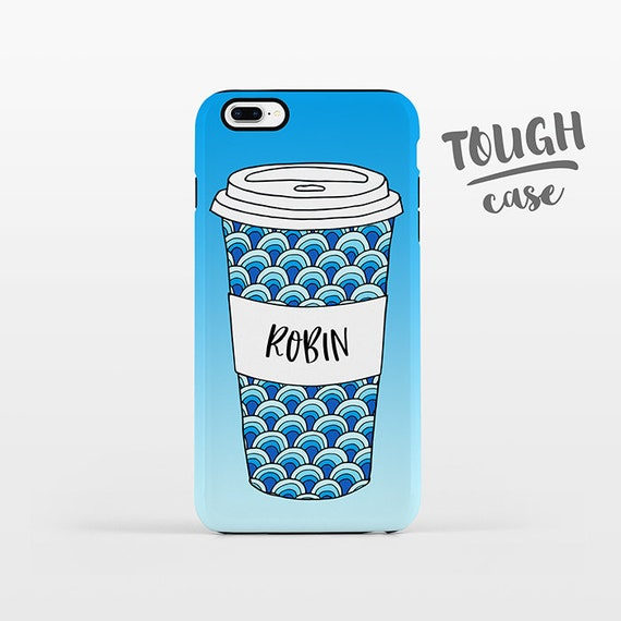 Waves Mug Coffee iPhone Case NAME Custom Phone Case Personalized iPhone X Case iPhone 8 Case iPhone 7 Plus Case iPhone 6s Plus iPhone 5 SE