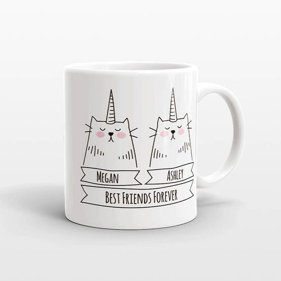 Personalized Gift for Best Friend Gift Idea Coffee Mug Gift for Best Friend Birthday Gift Unicorn Cat Best Friend Mug Unique Friendship Gift