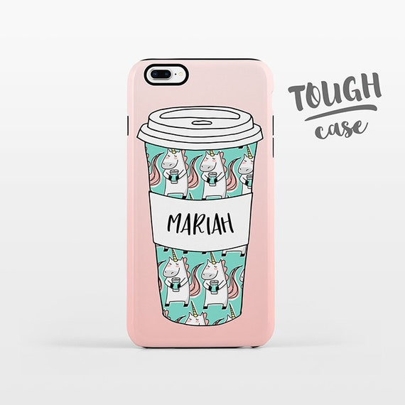 Unicorn Mug Coffee iPhone Case NAME Personalized Phone Case Custom iPhone 8 Plus Case iPhone X Case iPhone 7 Case iPhone 6 Plus iPhone 6s SE