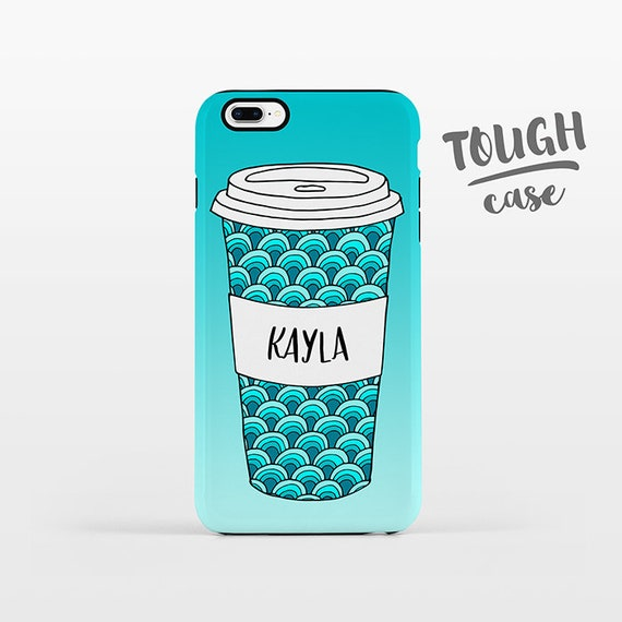 Waves Cup Coffee Phone Case NAME Personalized iPhone Case Custom iPhone X Case iPhone 8 Case iPhone 7 Plus Case iPhone 6 Plus iPhone SE 6s