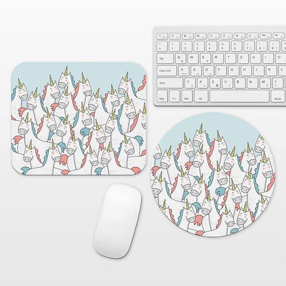 Unicorn Mousepad Unicorn Mouse Pad Fun Mouse Pad, Cute Unique Mouse Mat, Unicorns Desk Accessories Blue Desk Decor Office School Supplies
