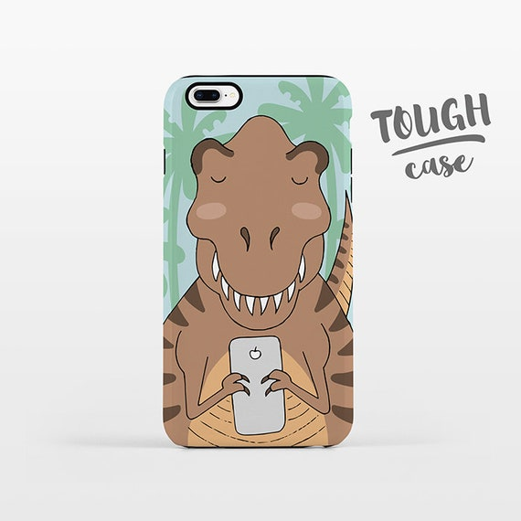 T-Rex iPhone Case iPhone X iPhone 8 Plus iPhone 7 Plus iPhone 6 Plus iPhone 6s iPhone SE iPhone 5 5s 5c 4 4s Cute Dinosaur Phone Case TOUGH