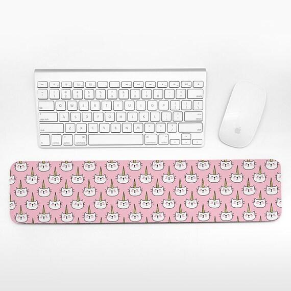 Caticorn Keyboard Wrist Rest Pad, Pink Wrist Keyboard Pad, Cat Unicorn Wrist Pad for Keyboard Rest, Decor Office Desk Accessories for Women
