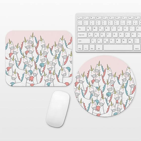 Unicorn Mouse Pad Unicorn Mousepad Cute Mouse Pad, Unique Fun Mouse Mat, Unicorns Desk Decor Pink Desk Accessories School Office Supplies