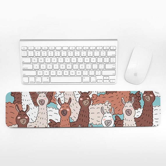 Llama Keyboard Wrist Rest Pad, Cute Animal Wrist Keyboard Rest, Alpaca Wrist Pad for Keyboard Pad, Funny Desk Cubicle Decor for Men Women