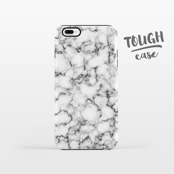 Marble iPhone Case iPhone X Case iPhone 8 Plus Case iPhone 7 Plus Case iPhone 6 Case iPhone 6S Case SE 5s 5c 5 Black White Phone Case TOUGH