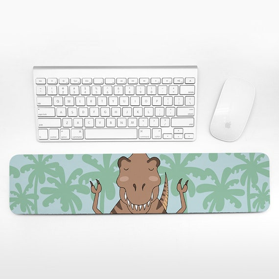 T-Rex Keyboard Wrist Rest Dinosaur Wrist Pad Fun Funny Cute T-Rex Gift for Men for Women Desk Accessories Cubicle Decor Office Supplies