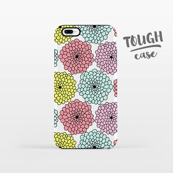 Pastel Floral Phone Case iPhone 8 Plus Case iPhone X Case iPhone 7 Case iPhone 8 Case iPhone 6 Plus Case 6s 5s 5c 5 4 Flowers iPhone Case