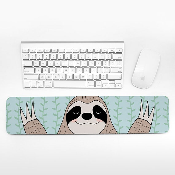 Sloth Keyboard Wrist Rest Animal Wrist Pad Fun Funny Cute Sloth Gift for Women for Men Desk Accessories Cubicle Decor Office Supplies