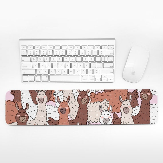 Llama Keyboard Wrist Rest Pad, Animal Wrist Keyboard Pad, Alpaca Wrist Pad for Keyboard Rest, Cute Decor Office Desk Accessories for Women
