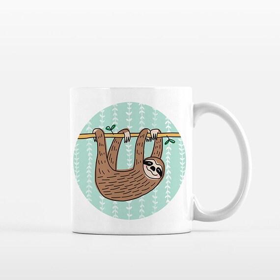 Sloth Mug Sloth Coffee Mug Sloth Cup Sloth Lover Gift for Her Gift for Him Sloth Gift Idea Sloth Item Unique Cute Mug Tropical Animal Mug