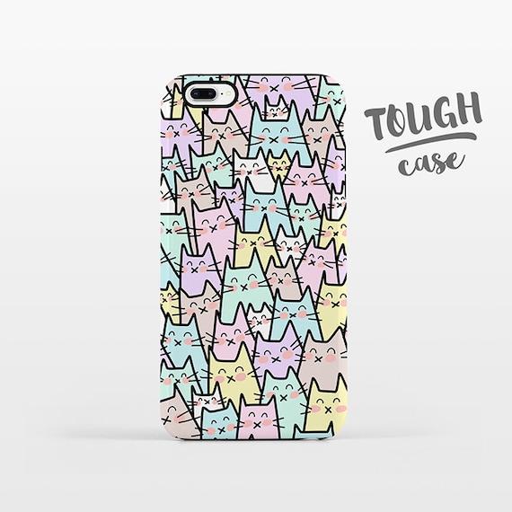 Cat iPhone Case Cat iPhone X Case iPhone 8 Plus Case iPhone 7 Plus Case iPhone 6 Case iPhone 6S Case SE 5s 5c 5 4 Pastel Phone Case TOUGH