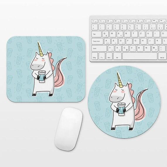 Unicorn Mouse Pad Unicorn Mousepad Coffee Mouse Pad Coffee Mousepad Mouse Mat Unicorn Lover Gift Fun Mouse Pad Blue Mouse Pad Cute Mousepad